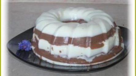 Десерт бланманже на сметане