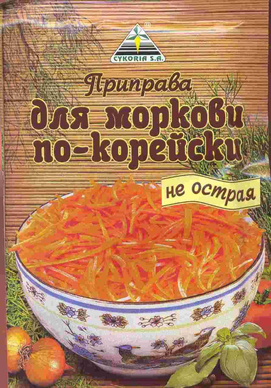 Морковка по-корейски с приправой в домашних условиях