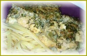 Курица в орехово-огуречном соусе