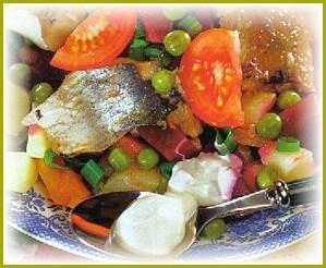 Вкусный винегрет с сардинами