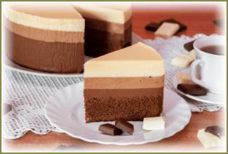 tort tri shokolada retcept