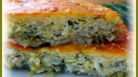 Быстрый капустный пирог