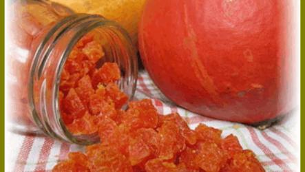 Простой рецепт цукатов из тыквы в домашних условиях