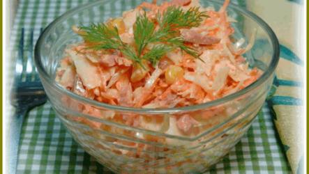 Салат из плавленых сырков – очень простой рецепт