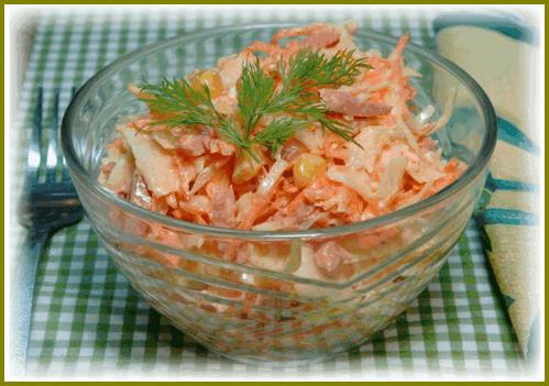 salat iz plavleny`kh sy`rkov