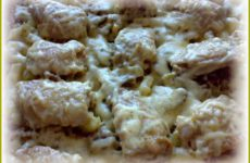 Картошка, курица и шампиньоны