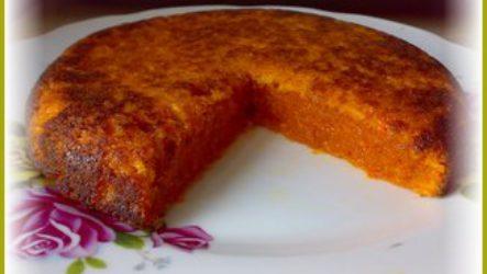 Морковный постный пирог