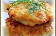Куриные оладьи с сыром