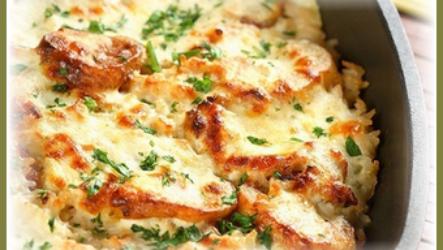 Картофельная запеканка с сыром и курицей