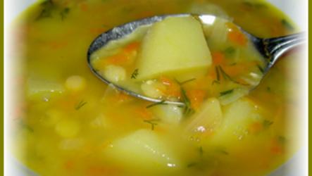 Очень вкусный постный гороховый суп