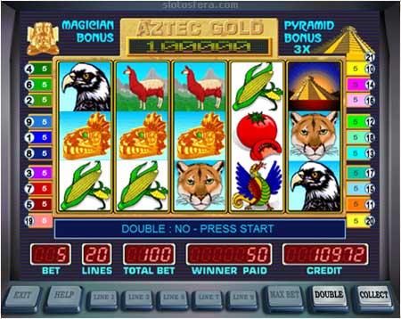 Ключевые параметры видеослота Aztec Gold из казино Вулкан