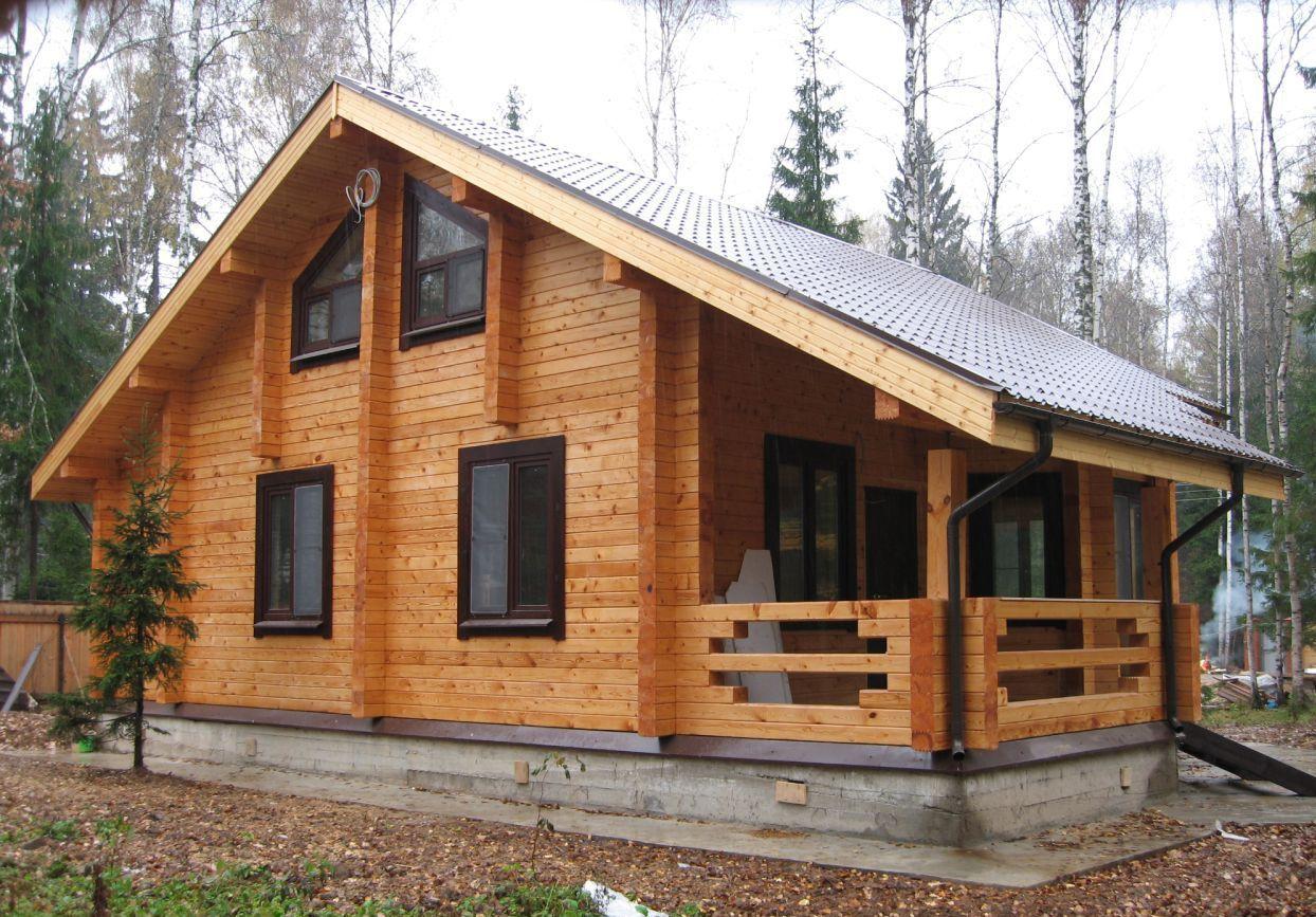 Основные плюсы дачных домов из бруса
