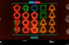 Элементы оформления игры Spectra из казино Рокс